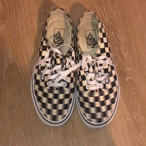 """Unisex checkered """"BLURRY LIMITED EDITION VANS"""""""